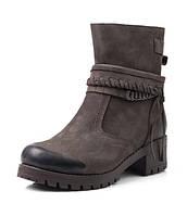 Женские зимние ботинки из нубука