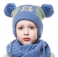 Шапка Машинка дитяча для хлопчика, фото 1
