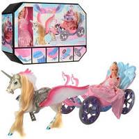 Кукла с лошадью и каретой 68021 лошадь с крыльями