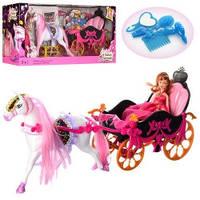 Кукла с лошадью и каретой 689Y с аксессуарами