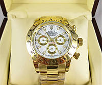Часы Rolex Daytona Gold/White (Механика). Replica