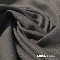 Графитовая льняная ткань 100% лен, цвет 123