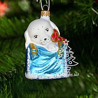 Стеклянная елочная игрушка Собачка из подарка 555