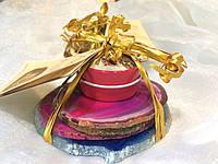 Подарочный чайный набор на 4 персоны (сине-лиловые оттенки)