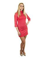 Платье с декоративными пуговицами П190