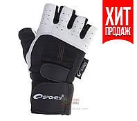 Мужские перчатки для фитнеса Spokey Guanto (original), спортивные атлетические тренировочные