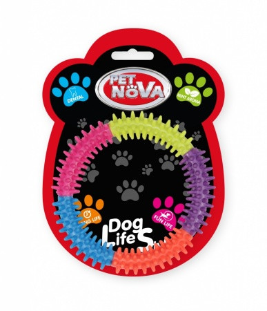 Іграшка для собак Pet Nova Кільце для зубів 15 см багатобарвний