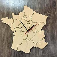 Декоративные часы-карта из дерева «Франция», фото 1