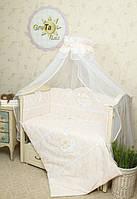"""Дитяче постільна білизна в ліжечко GreTa Lux - """"Ніжність"""" 7эл., фото 1"""