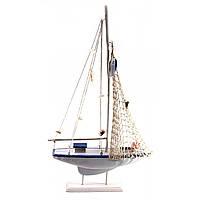 Парусник сувенирный Яхта деревянная