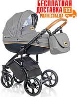 Универсальная коляска 2 в 1 Roan Bass Soft Denim Black Cognac Темно-серый