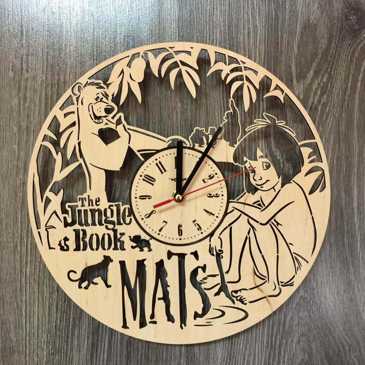 Детские часы на стену «Маугли»