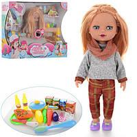 Кукла 5922-B  34см, муз, посуда, продукты, на бат-ке, в кор-ке, 53-39-12,5см