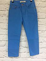 Штаны голубые,хлопок для мальчиков на рост 128-152
