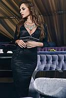 Черное красивое вечернее платье