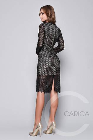 Черное красивое вечернее платье, фото 2