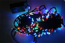 Гирлянда-конус черный LED 300 мульти