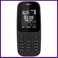 Телефон Nokia 105 SS New BLACK. Гарантия в Украине 1 год!