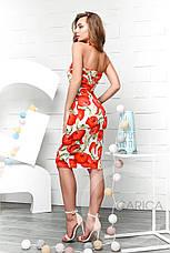 Платье коктейльное , (Крем-алый), фото 2
