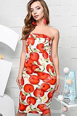 Платье коктейльное , (Крем-алый), фото 3