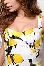 Платье KP-5896-3, (Белый-желтый), фото 2