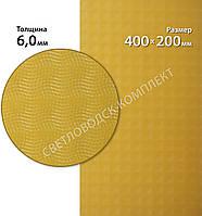 """Полиуретан листовой Светловодск, """"Рептилия"""" р. 400*200*6 мм, цв. бежевый"""
