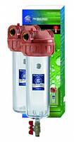 """Корпус фильтра, для горячей воды с промывкой 10"""", трехэлементный, F10NN2PC-V_R"""