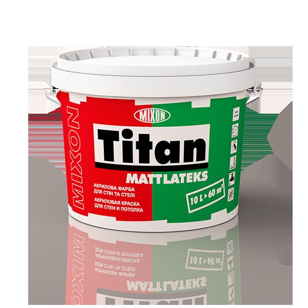 Акриловая краска для стен и потолка Mixon Titan Mattlateks. 2,5 л
