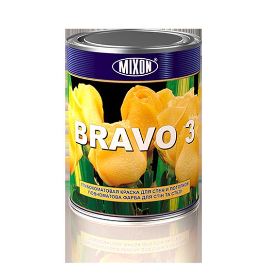 Глубокоматовая краска для стен и потолков Mixon Bravo-3. 1 л