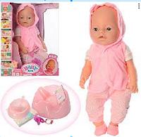 Детская игрушка пупс BB 8006-458 с набором аксессуаров, высота 42 см.
