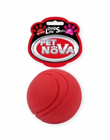 Іграшка для собак М'яч Pet Nova 5 см червоний