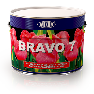 Матовая краска для стен и потолков Mixon Bravo. 10 л