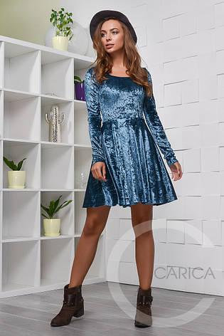 Велюровое платье, фото 2