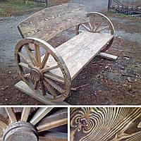 Дизайнерская скамья для сада, парка, дачи, загородного дома