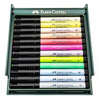"Ручка-кисточка капиллярная Faber Castell PITT® ARTIST PEN 267420 ""BRUSH"" набор PASTEL 12 цветов"