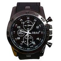 Великолепные мужские часы SBAO с черным ремешком