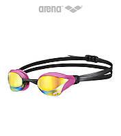 Зеркальные очки для плавания премиум класса Arena Cobra Core Mirror (Pink Revo/Pink)