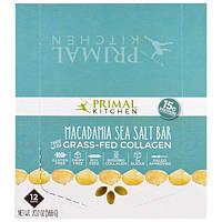 Primal Kitchen, Макадамия с морской солью, коллаген, выращенный на подножном корму, 12 батончиков, 1,7 унции (49 г) в каждом