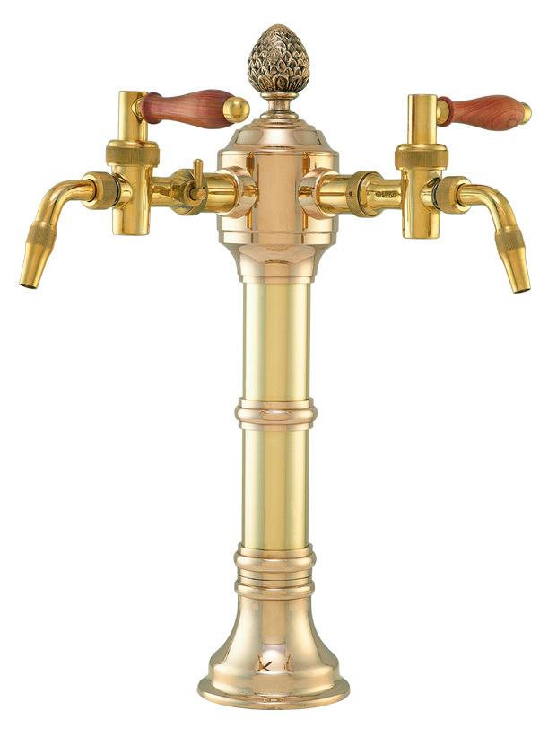 """Пивная колонна на 2 продукта, """"золото"""", Lukr, Чехия"""