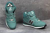 Мужские зимние кроссовки New Balance  696 Revlite темно зеленый 3557
