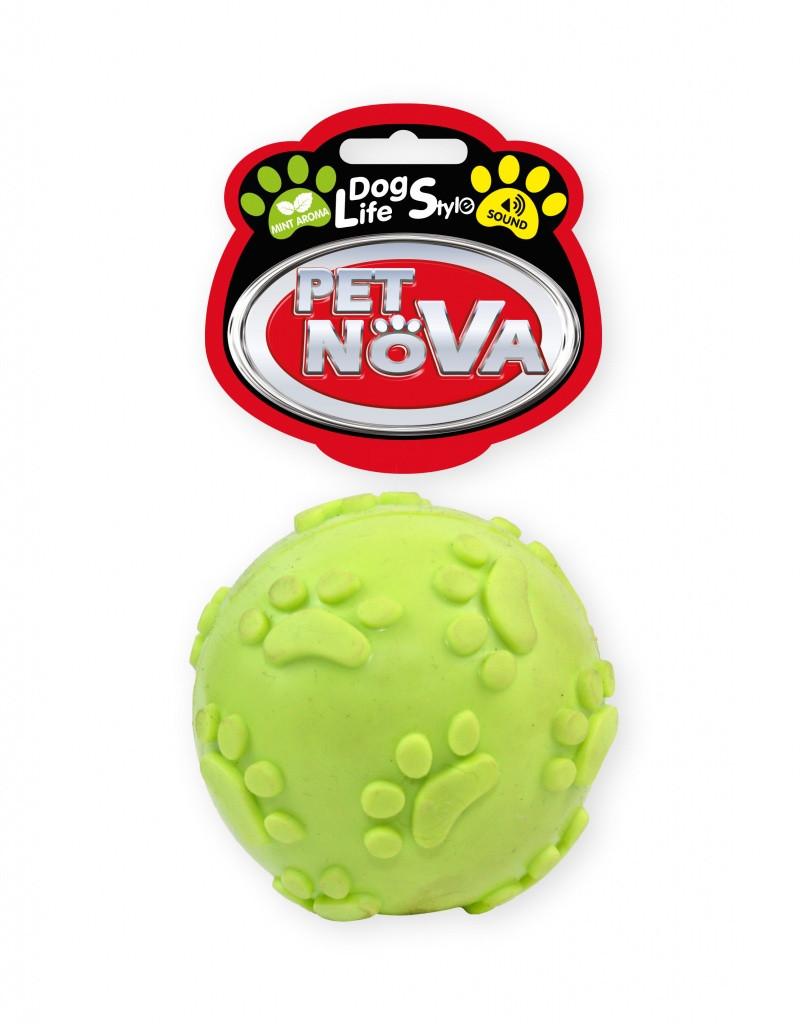 Игрушка для собак Мячик звонкий Pet Nova 6 см желтый