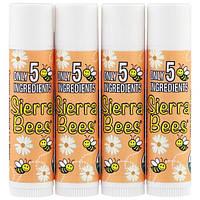 Sierra Bees, Органический бальзам для губ, грейпфрут, 4 пакетика, 0,15 унций (4,25 г) каждый