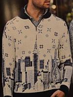 Мужской зимний свитер Pulltonic (Турция) с рисунком большого города