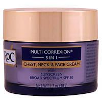 RoC, Multi Correxion 5 в 1, крем для лица, шеи и зоны декольте, 1,7 унц. (48 г)