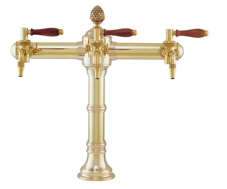 """Пивная колонна на 3 продукта, """"золото"""", Lukr, Чехия"""