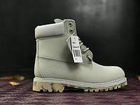 Мужские ботинки Timberland Grey Camo с мехом (серые)