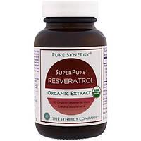 The Synergy Company, Чистая синергия, органический экстракт органического ультрачистого ресвератрола, 60 органических вегетарианских капсул