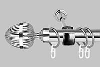 Карниз для штор однорядный металлический 25 мм, Одеон  (комплект)