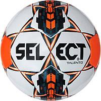Детский футбольный мяч SELECT Talento бело/оранжево/голубой размер 5