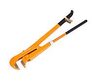 """Ключ для труб Polax 90 градусов 2"""" обрезиненная рукоятка"""